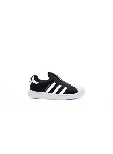 adidas Unisex Çocuk Superstar 360 Sneakers S32130.Siyah Siyah